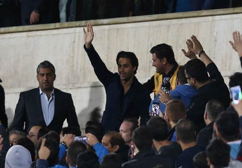حاشیه دیدار استقلال - پدیده، فرهاد مجیدی در استادیوم آزادی حاضر شد