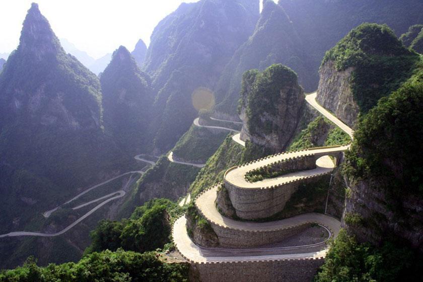 جاده ای در چین که شما را به بهشت می رساند
