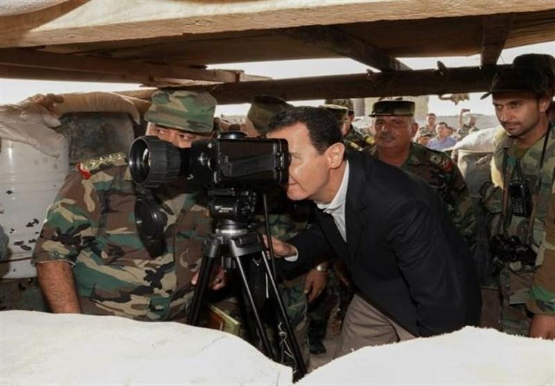 بشار اسد در خط مقدم جنگ: نبرد اصلی ما پایان دادن به تروریسم در تمام مناطق سوریه است