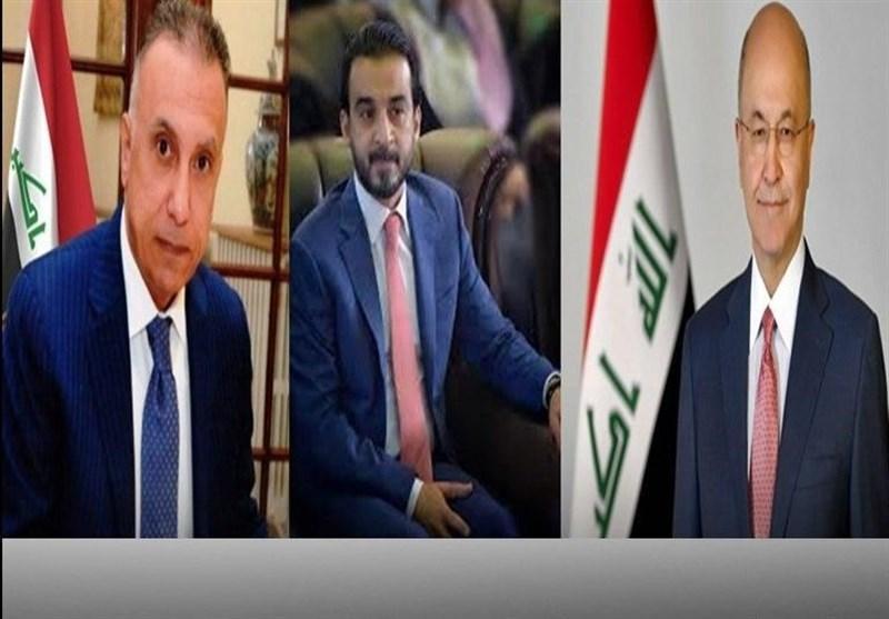 نشست سه جانبه روسای جمهور و مجلس عراق با نخست وزیر جدید