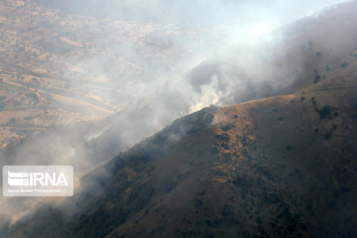 خبرنگاران آتش کوه سیاه دشتستان خاموش شد