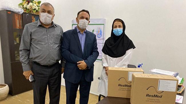 اهدای 2 دستگاه یاری تنفس مصنوعی به بیمارستان شهید مصطفی خمینی ایلام