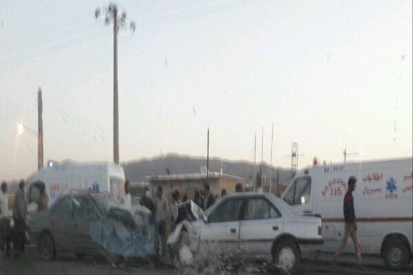 5 کشته و مجروح در تصادف دوخودرو در خوشاب