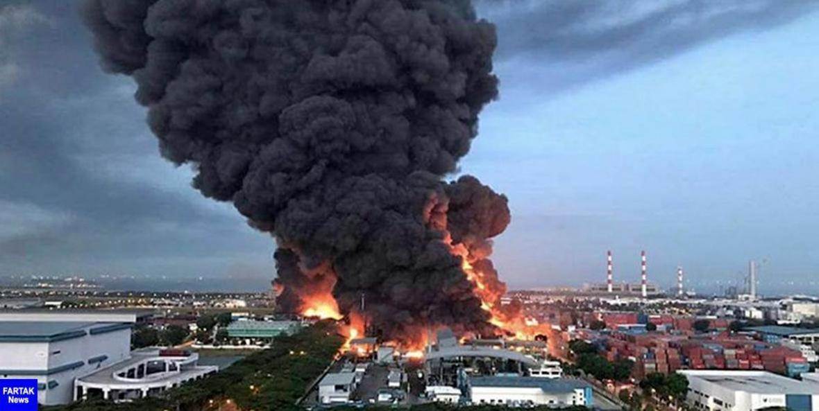انفجار عظیم در انباری نزدیک شهر بریستول انگلیس
