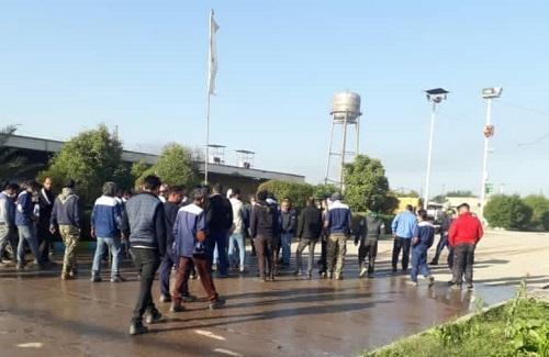 اعتراض کارگران خدمات و پشتیبانی هفتتپه در پی منحل شدن این بخش ، خلع ید کارفرما خواسته اصلی تمام کارگران است