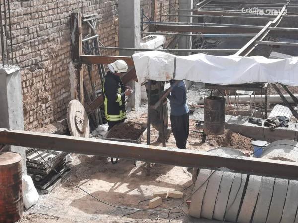 کارگر سقوط نموده به چاهی در قم نجات یافت