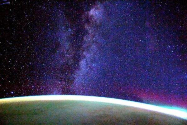 کهکشان راه شیری از منظر ایستگاه فضایی بین المللی