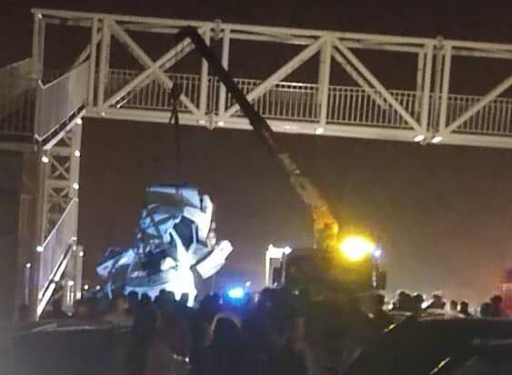 فوت 4 عضو یک خانواده در پی برخورد پراید با پل عابر پیاده در محور گچساران- بهبهان